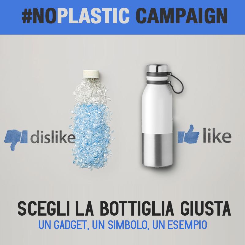 campagna plastic free bottiglie ecologiche personalizzate